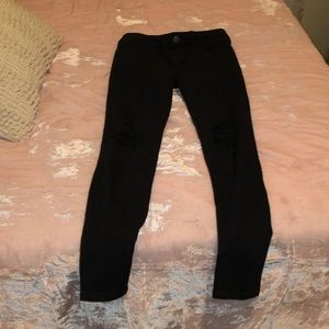 Ripped Black American Eagle Jeans